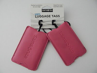 Samsonite High Quality Vinyl Luggage Tags Business Cards Sized 2 Packs New