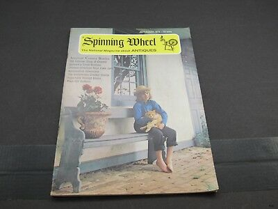 July Aug 1973 SPINNING WHEEL Antiques Magazine Cracker Stamps, Gilt Buttons