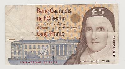 Bank of Ireland Five Pound/Punt Note