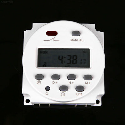 3765 1x 12V Digital Time Switch Electronic Timer LCD Display Power Relay Program