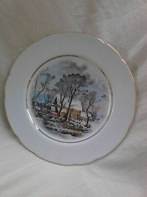 Avon 'Currier & Ives' salad plate 1977