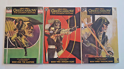 Green Arrow: The Longbow Hunters #1 - 3 Mike Grell (1987 DC)