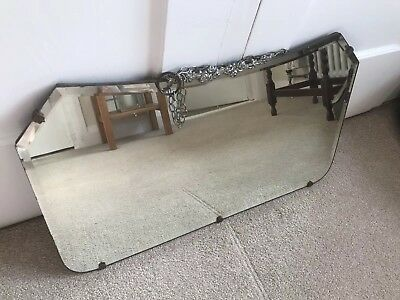 Art Deco Vintage Bevelled Rectangular Mirror