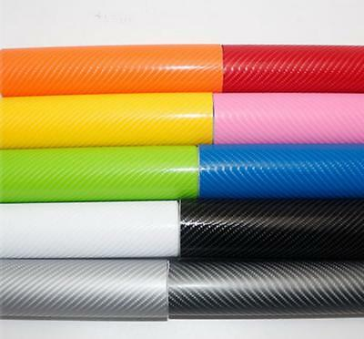 4D Carbon Fiber Vinyl Wrap Film Sticker (Air/Bubble Free) All Colours All Sizes