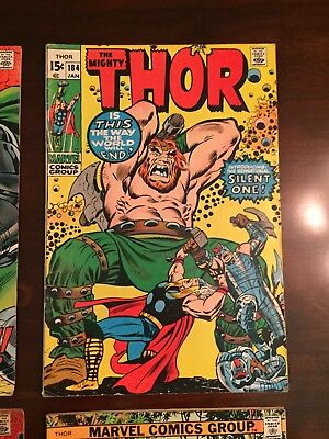 Marvel The Mighty Thor Lot # 182, 184 and 188 Very Good Cond