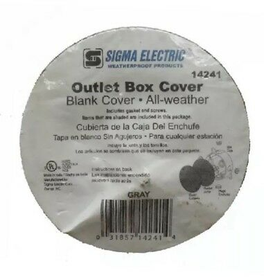 New Sigma Electric Outlet Box Cover Blank Cover All Weather Weatherproof 14241