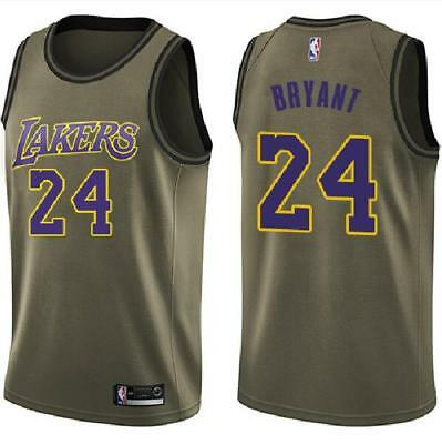 Los Angeles Lakers #24 Kobe Bryant Basketball jersey Military green Size:S-XXL