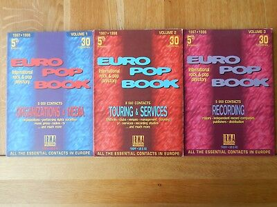 3 x EURO POP BOOK / CONTACTS for RECORDING - TOURING - ORGANIZATIONS & MEDIA 199