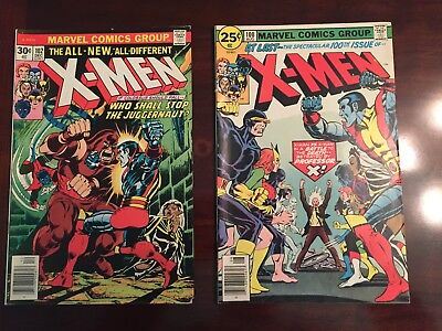 Marvel X-MEN Lot #100 and 102 # 102 30 cent variant Very Good + Condition