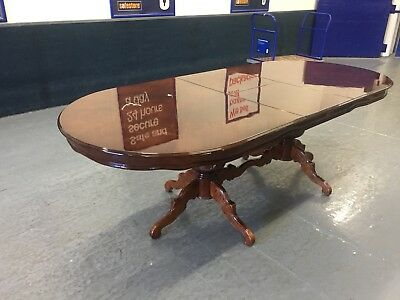 Large 8ft French Louis Style Fleur de Lys Mahogany Table Boardroom Table   M2775