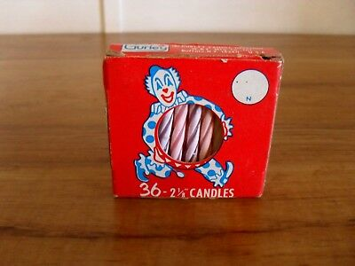 Vintage Gurley Birthday Cake Candles In package
