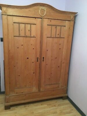 Antique Pine Knock Down Large Wardrobe