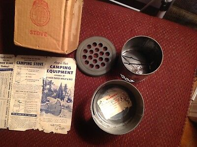 Quaker Puff Wheat And Rice Camping Stove Gabby Hayes And Sgt Preston Hiking Rare