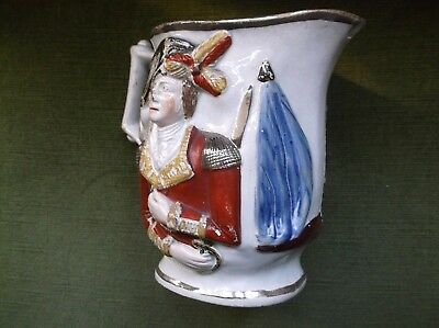 Rare Antique Early 19Th C Pearlware Napoleonic Jug Lord Wellingon & General Hill