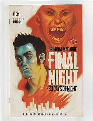 Criminal Macabre: Final Night The 30 Days of Night Crossover #1 VF/NM 9.0 IDW