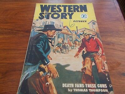 """Oct 1955 """"western Story""""  64 Pages"""