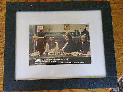 Greensboro Lunch Counter Sit-In At Woolworth's 7X9 Framed 30Th Anniversary Photo
