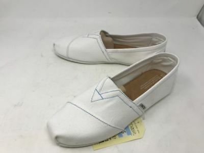 d7acfe13573 New Men s Toms Classics White Canvas Slip On Casual Loafer Shoes White MB