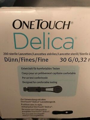 4 New Boxes One Touch Delica Lancets 30g. 800 Total For Diabetics Blood Testing