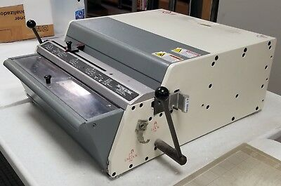 NO RESERVE Rhin-O-Tuff HD7700 Heavy Duty Punch For Wire, Comb & Spiral Binding.