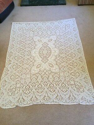 Vintage 1950 Large Lace American Tablecloth