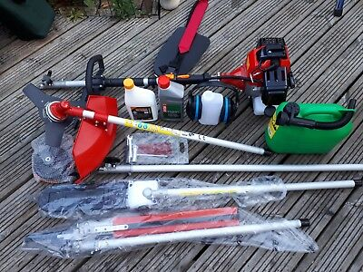 52cc Petrol Brushcutter Strimmer Hedge Trimmer Chainsaw 4in1 Multi Tool only bru