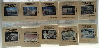 Lot of 10 Early 1960s Souvenir HERSHEY CHOCOLATE FACTORY 35mm Color Slides