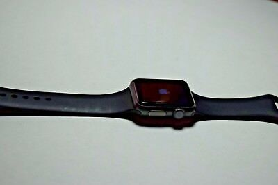 Apple Watch Sport 38mm 7000 Series Space Gray w/ Black Bands