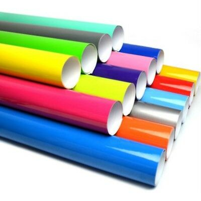 Gloss Vinyl Wrap Sheet Roll Film Sticker (Air/Bubble Free) All Colours All Sizes