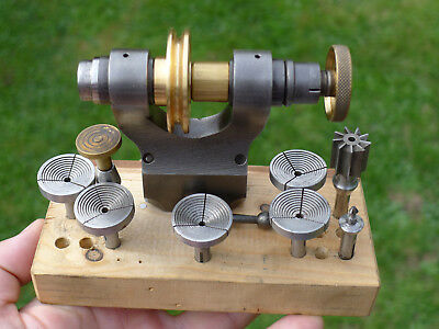 Watchmakers Lathe G.BOLEY Geneva D Pattern 1/4 inch collet 6mm STEP/WAX CHUCKS++