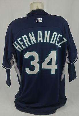 66466348 Felix Hernandez Game Used 2015 Seattle Mariners Jersey & Undershirt With COA
