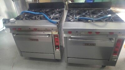 """Two Vulcan Commercial  36"""" Six Burner Stoves/ Gas Ranges, natural gas"""