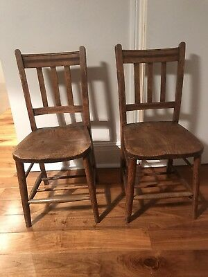 LOT of 2 x Chairs Antique Vintage Chairs