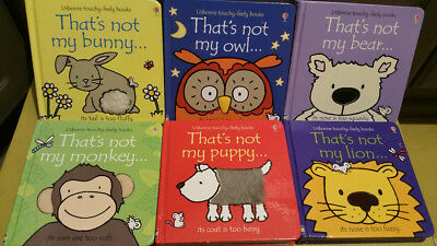 That's Not My....... Bunny, owl, Bear, Monkey, puppy, Lion. 6 Book Bundle