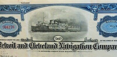 DETROIT and CLEVELAND STOCK CERTIFICATES