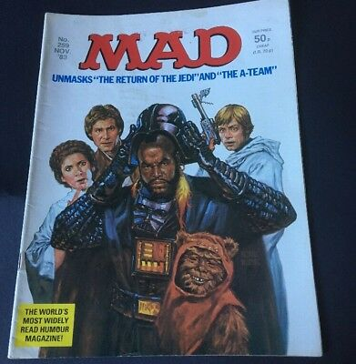 UK Mad Magazine no 259 Nov 1983, Star Wars Return Of Jedi & A-Team