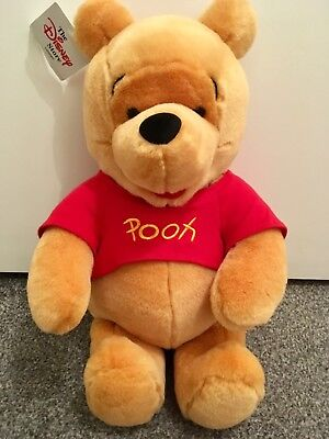 DISNEY STORE WINNIE THE POOH Authentic Plush Soft Toy Teddy ~ 17 inches
