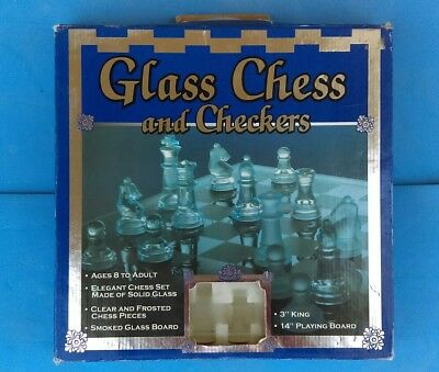 Chess & Checkers Glass Set By Cardinal