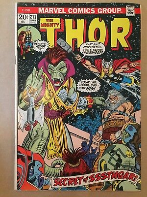 The Mighty Thor #212 1973, Marvel Comics VG+/FN- condition