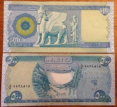 5000 New Iraqi Dinar Banknotes (10 x 500) Uncirculated Currency