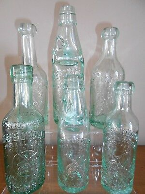 Lovely Group Of Old Antique Mineral Bottles from the ROSSENDALE VALLEY area