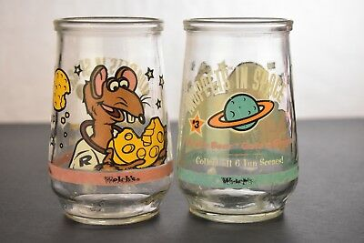 Set Of 2 Welchs Muppets In Space Collectible Glasses #3 & #5