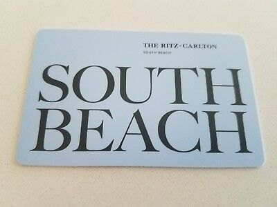 The Ritz-Carlton HOTEL ROOM KEY CARD * SOUTH BEACH Miami