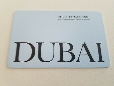The Ritz-Carlton HOTEL ROOM KEY CARD * DUBAI International Financial Center