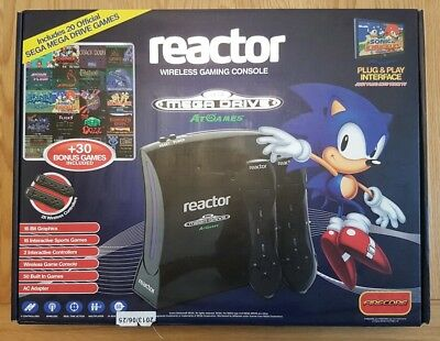Sega Mega Drive Reactor: Wireless Gaming Console With 2 Controllers & All Cables