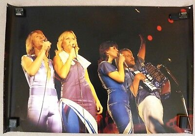 Abba Rare Original Wall Poster 3ft x 2ft  Live in Concert 1979