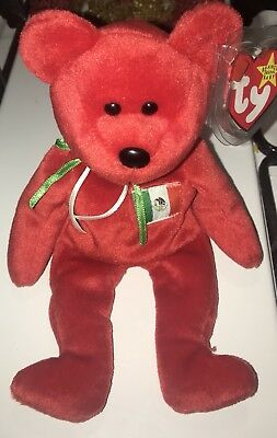 """Ty Beanie Baby """"OSITO"""" Bear 1999 RETIRED, TAG ERRORS, NEW MINT COLLECTIBLE"""