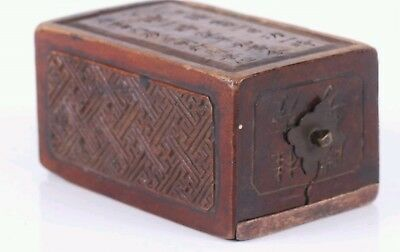 Antique Chinese Bronze Domino Set W/ Mark's And Calligraphy 19th Century