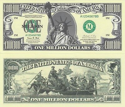 Horse Play Million Horses Dollar Bill Funny Money Novelty Note with FREE SLEEVE