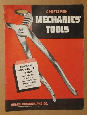 Vintage Craftsman Mechanics' Tools Catalog, 1955, Nice and Tight, Some Stains